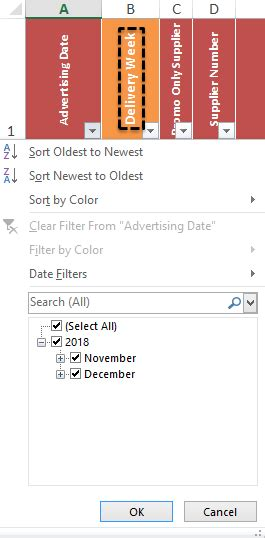 VBA filter to hide fdates in the past not working