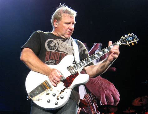 Rock Music: Alex Lifeson, guitarist for the rock band Rush