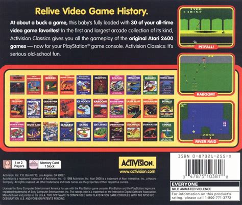 A Collection of Activision Classic Games for the Atari