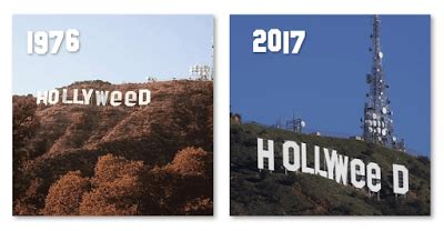 Is The Hollyweed Sign Real? - Hollywood 2017 Prank, 1976