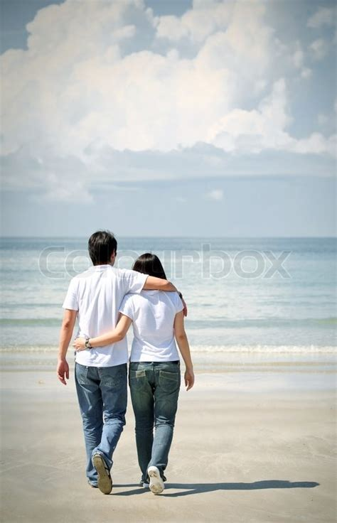 Couples walking together | Stock Photo | Colourbox