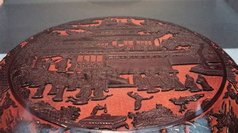 File:Carved lacquer wooden box, Ming Dynasty
