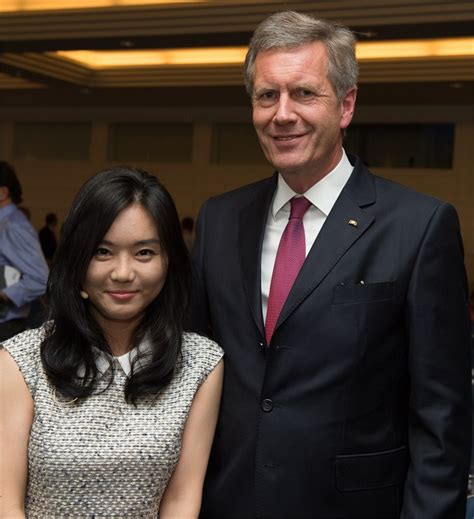 Hyeonseo Lee meets Christian Wulff, former President of