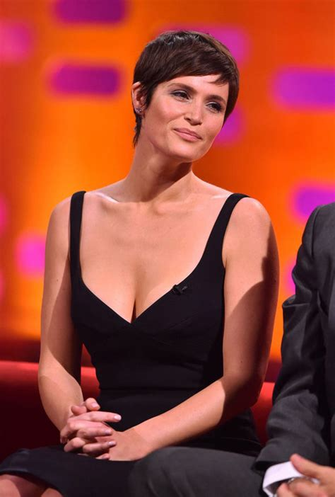 Gemma Arterton puts on a busty display as she unveils