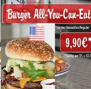 Miss Pepper American All you can Eat Burger Aktion für 9