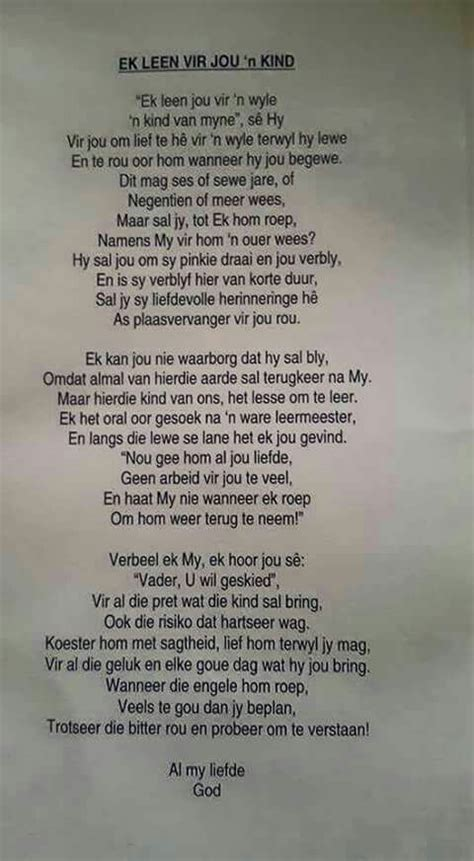 'n Kind (With images) | Afrikaanse quotes, Pray quotes
