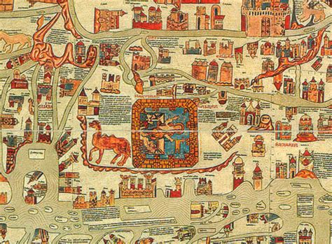 The world map of Ebstorf (1300)   Jerusalem in the centre