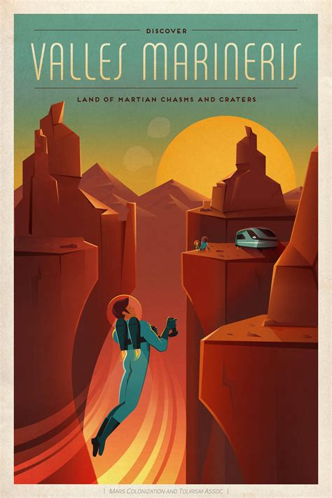 SpaceX made some awesome travel posters for Mars | The Verge