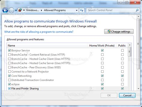 How to configure Windows 7 Firewall for network sharing